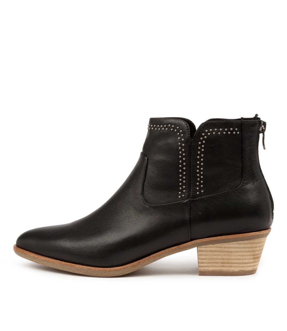 Buy Diana Ferrari Alored Df Black Natural Heel Ankle Boots online with free shipping