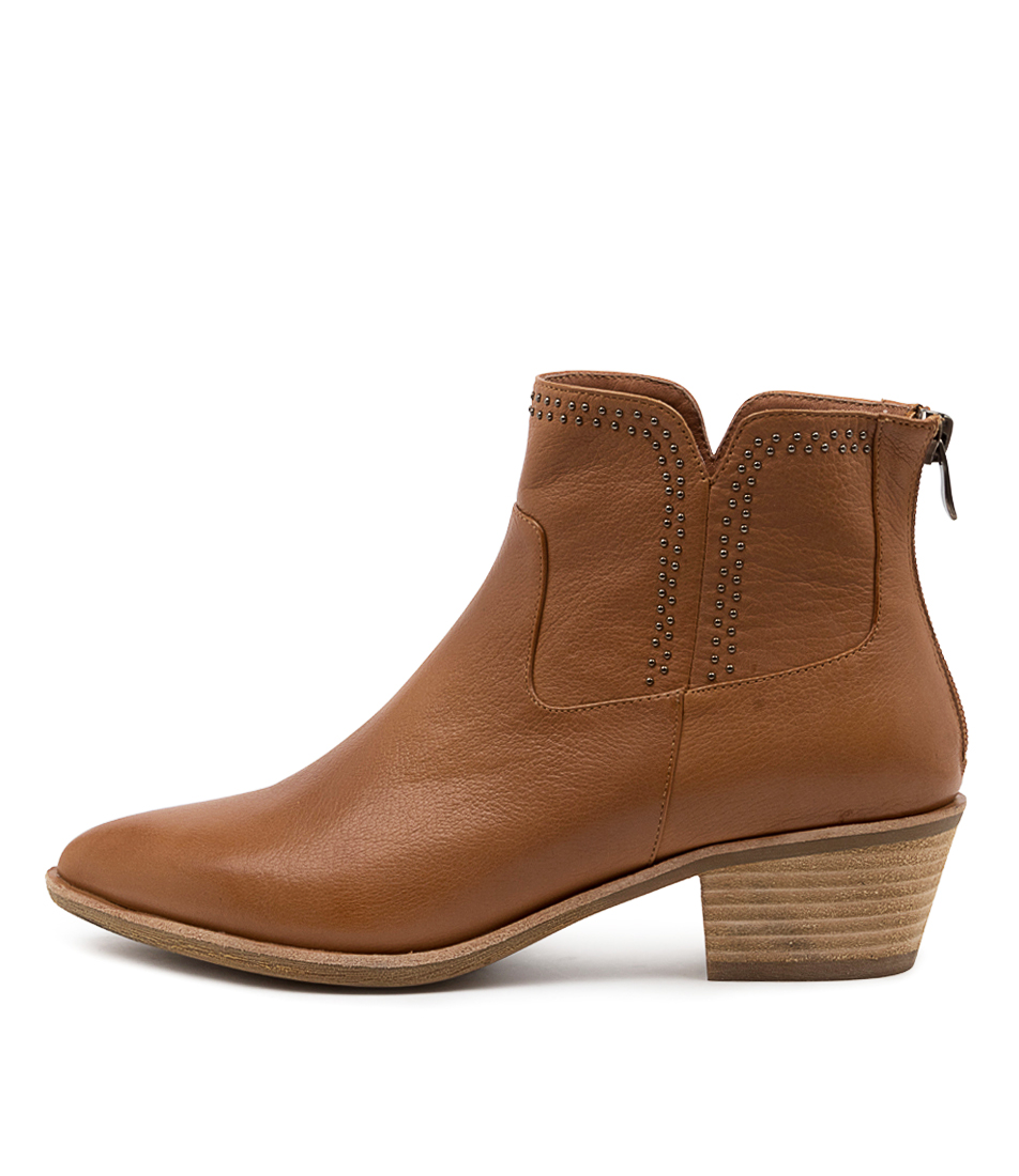 Buy Diana Ferrari Alored Df Dk Tan Ankle Boots online with free shipping
