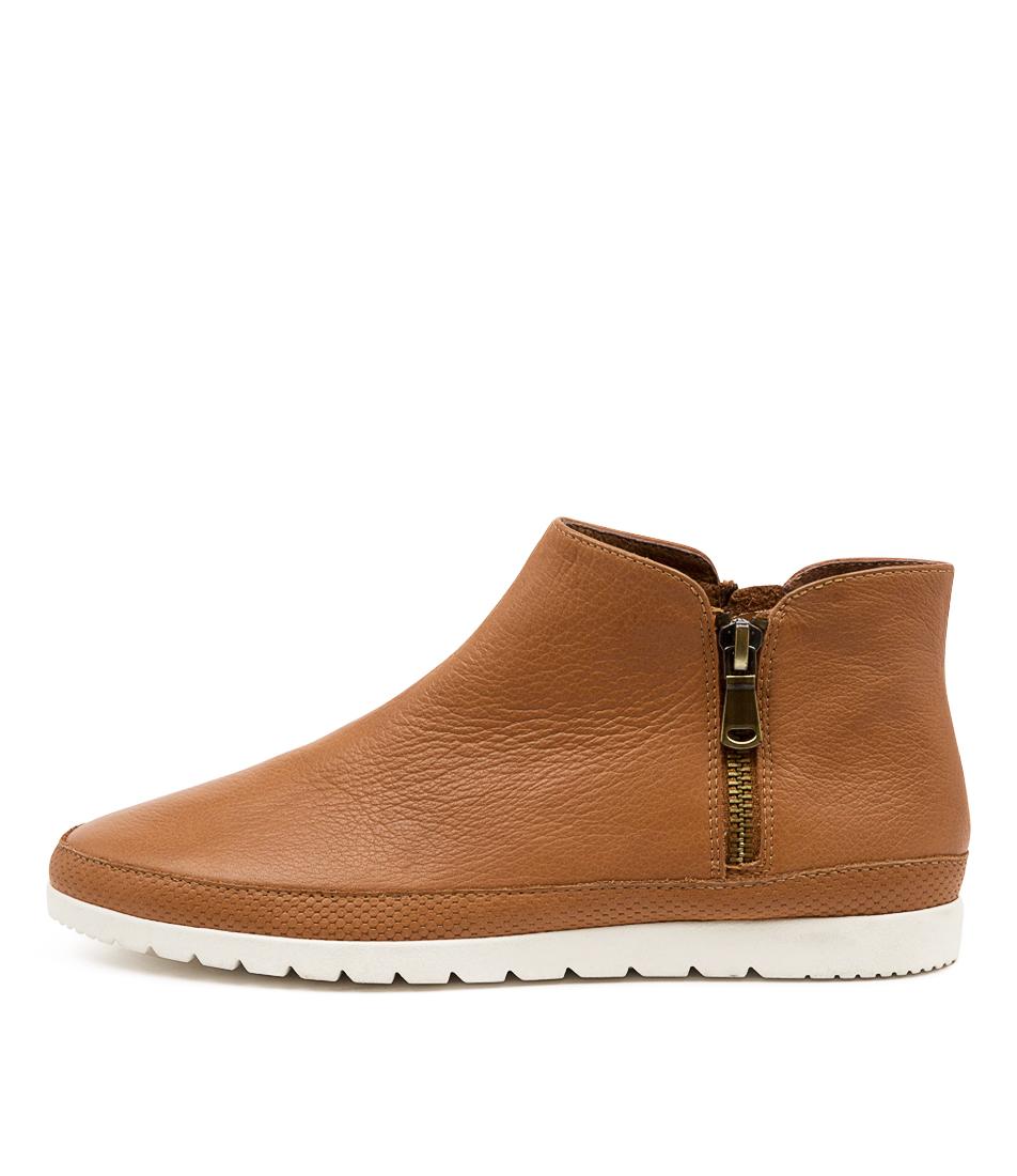 Buy Diana Ferrari Alovit Df Dk Tan Ankle Boots online with free shipping