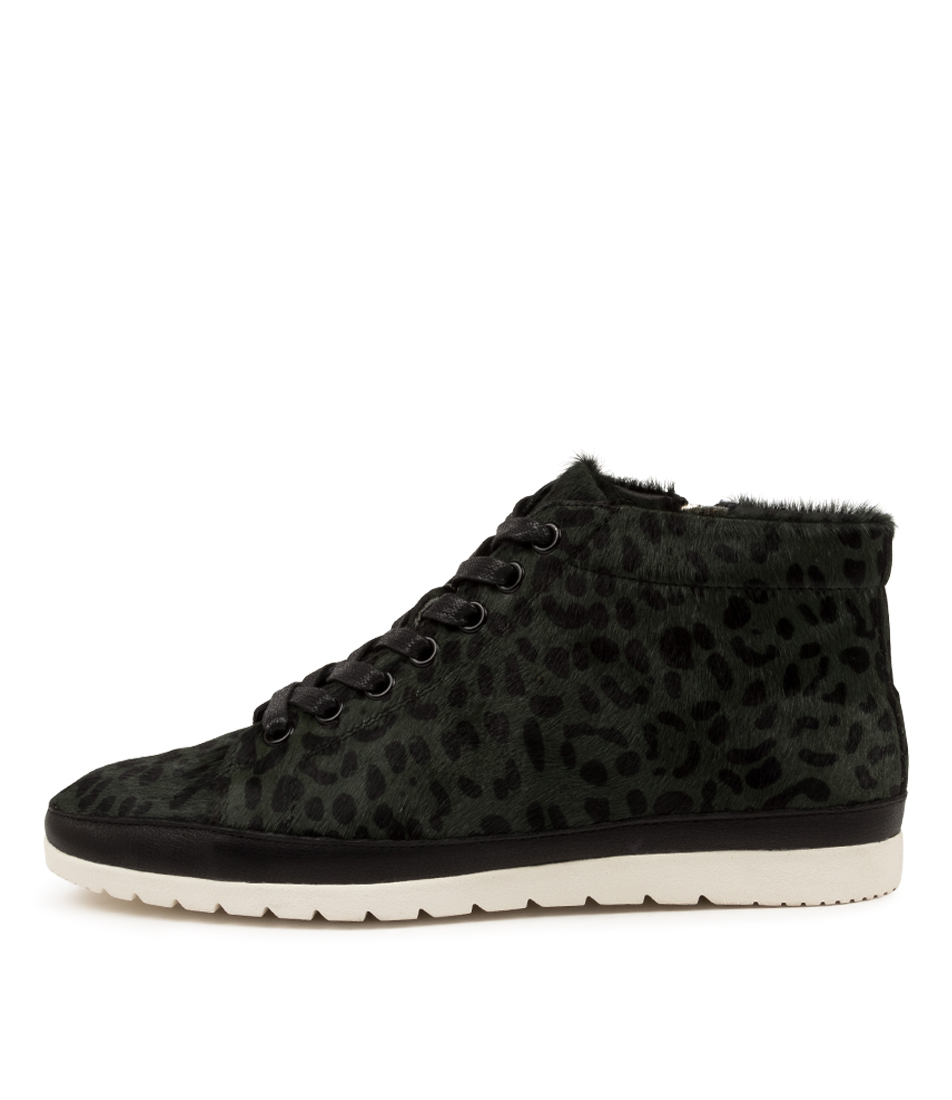 Buy Diana Ferrari Alyse Df Forest Leopard Black Ankle Boots online with free shipping