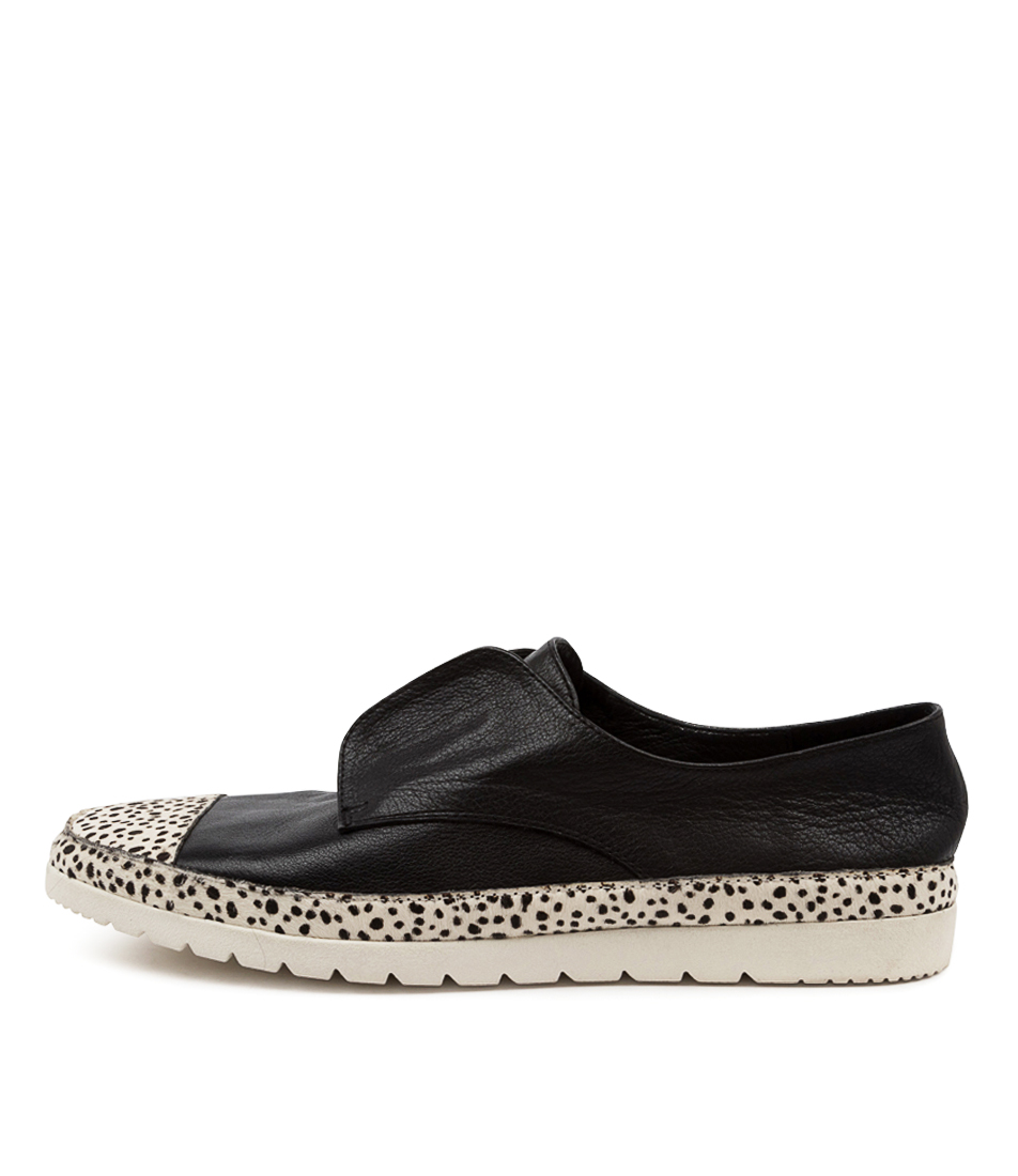Buy Diana Ferrari Amin Df White Speckle Black Flats online with free shipping