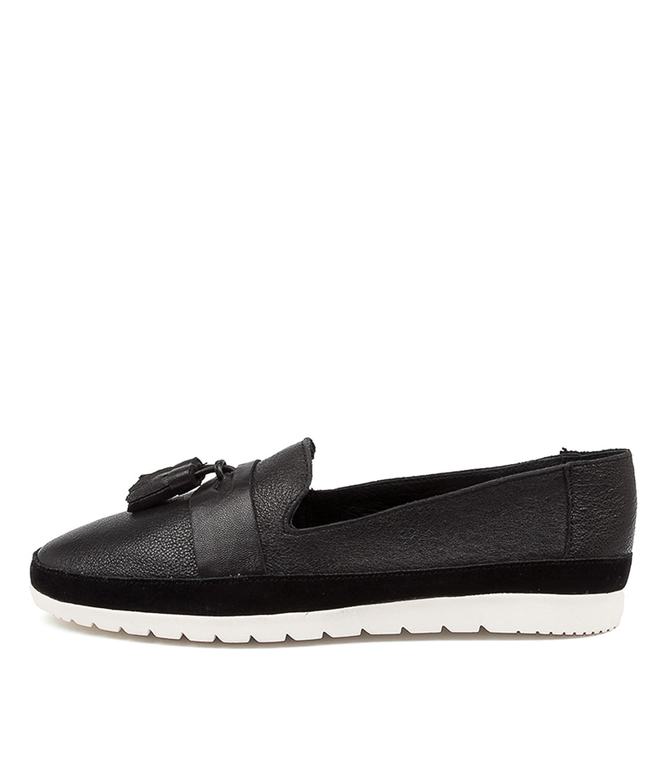 Buy Diana Ferrari Anakin Df Black White Sole Flats online with free shipping