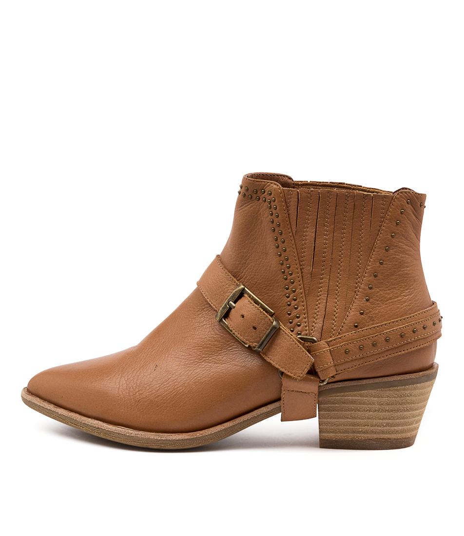 Buy Diana Ferrari Apower Df Dk Tan Ankle Boots online with free shipping