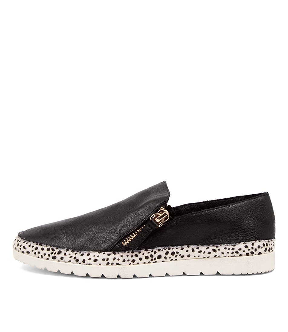 Buy Diana Ferrari Ashli Df Black White Speckle Flats online with free shipping