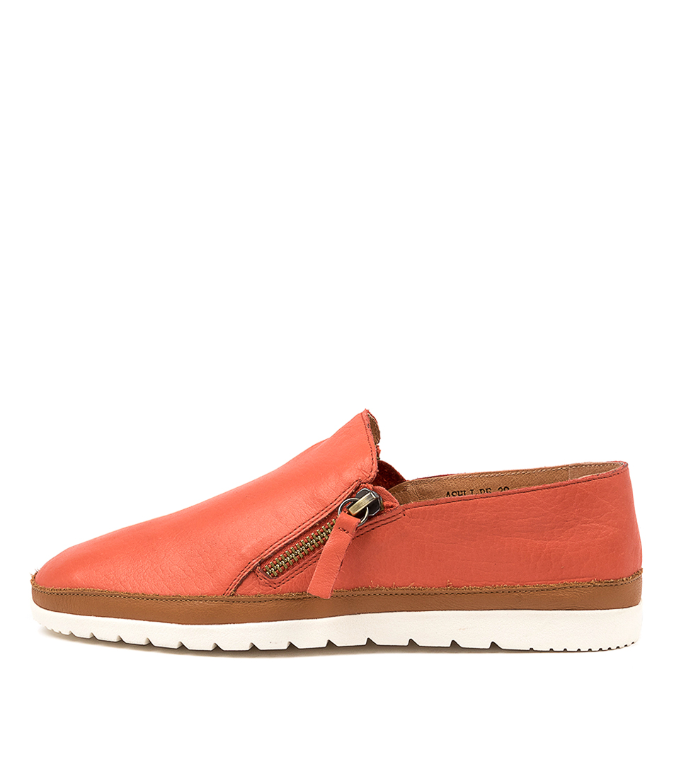 Buy Diana Ferrari Ashli Df Burnt Orange Dk Tan Flats online with free shipping