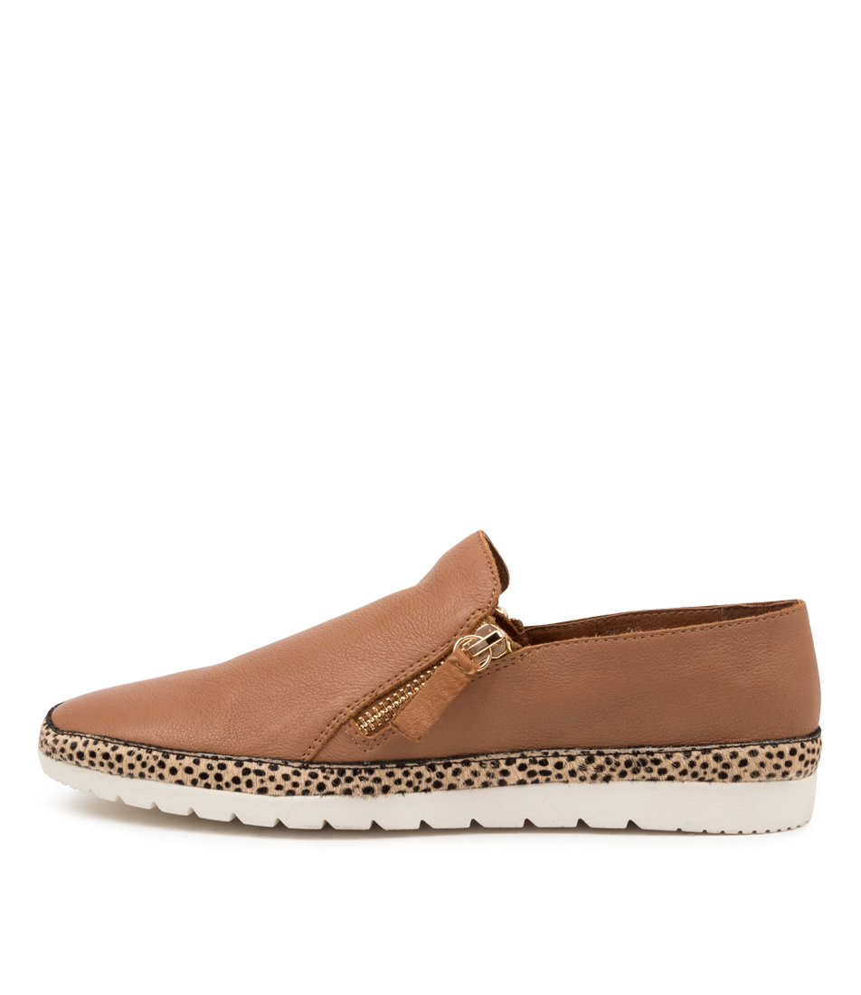 Buy Diana Ferrari Ashli Df Dk Tan Sand Speckle Flats online with free shipping