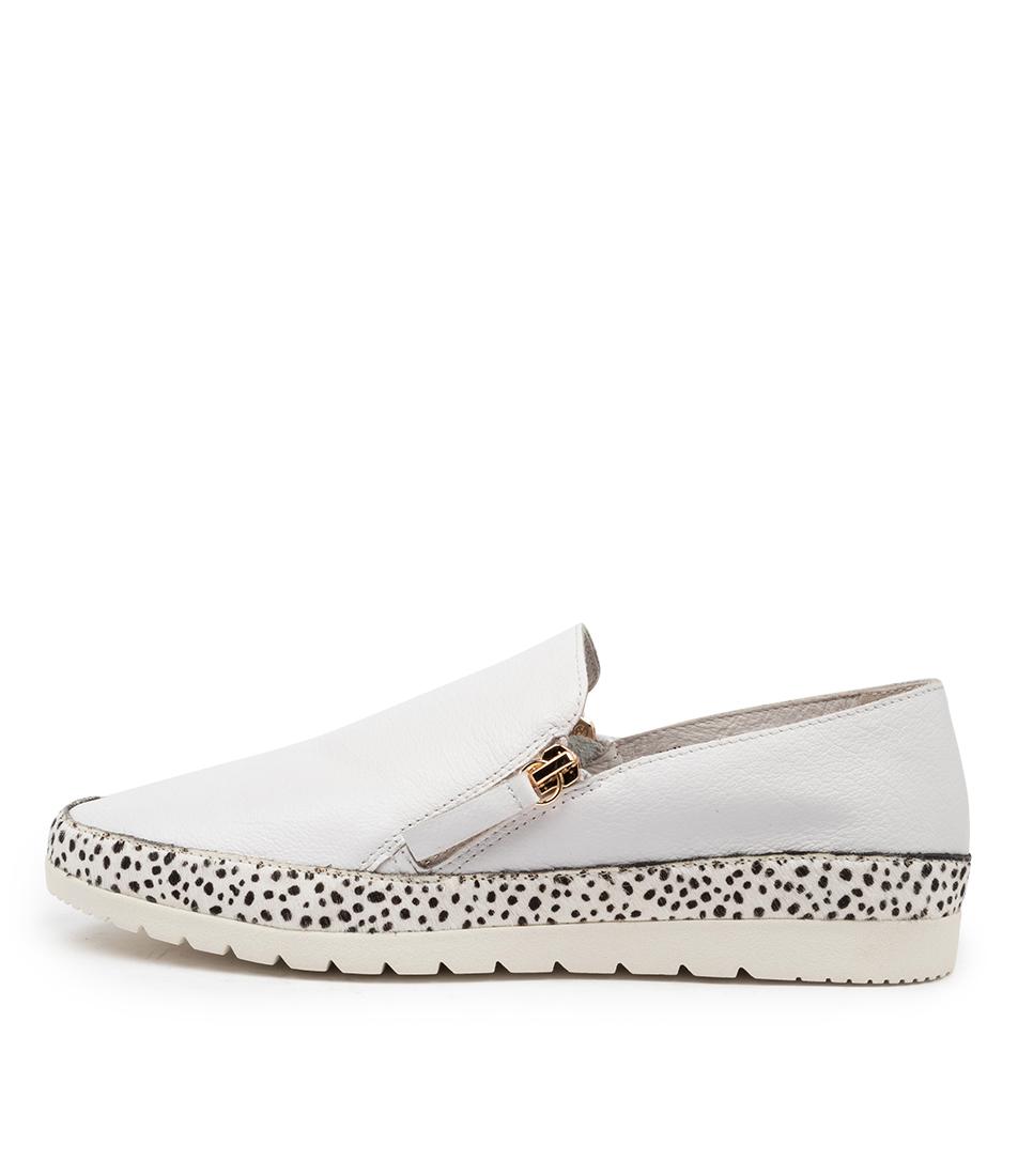 Buy Diana Ferrari Ashli Df White White Speckle Flats online with free shipping
