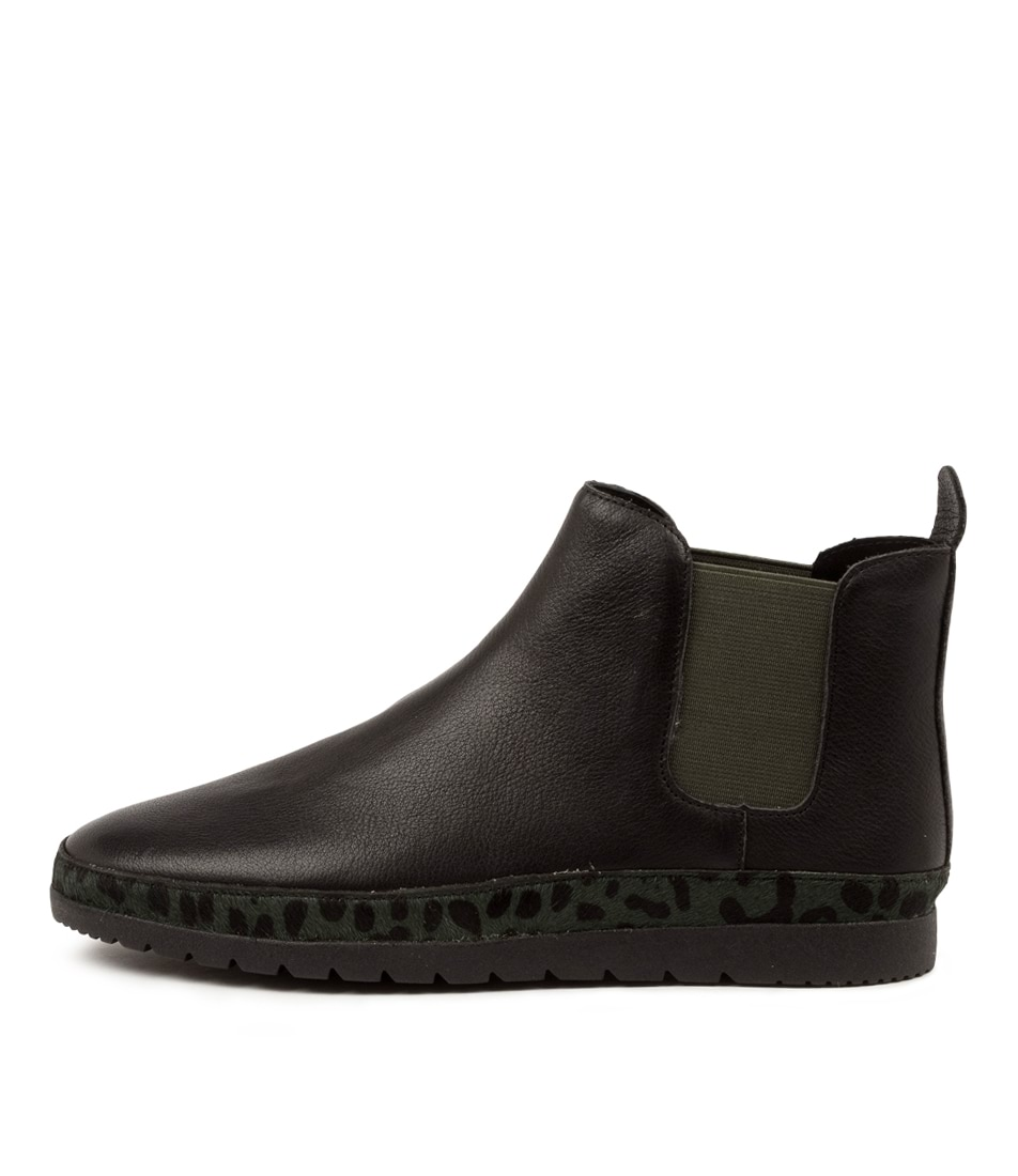 Buy Diana Ferrari Audra Df Black Forest Leo Black Ankle Boots online with free shipping