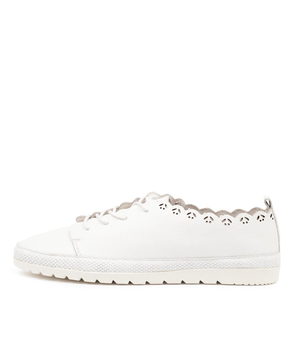 Buy Diana Ferrari Aviah Df White Flats online with free shipping
