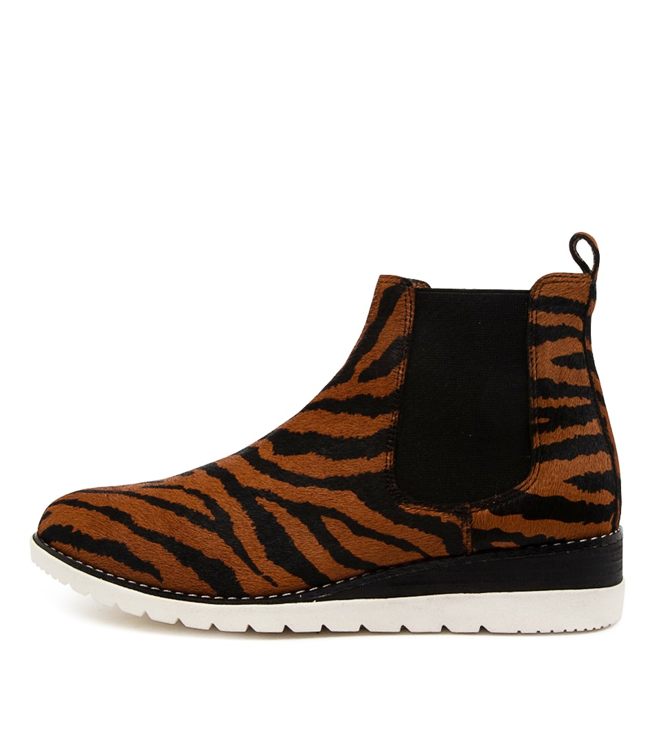 Buy Diana Ferrari Blynx Df Tan Zebra Ankle Boots online with free shipping
