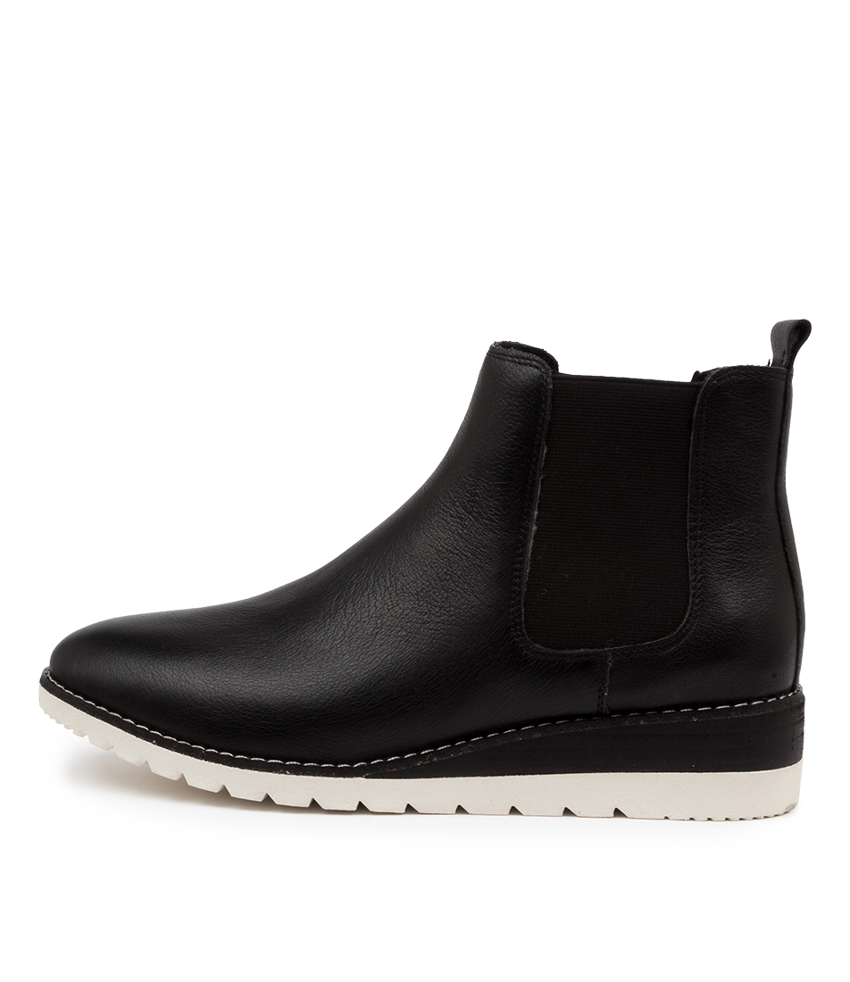Buy Diana Ferrari Blynx Df Black White Sole Ankle Boots online with free shipping