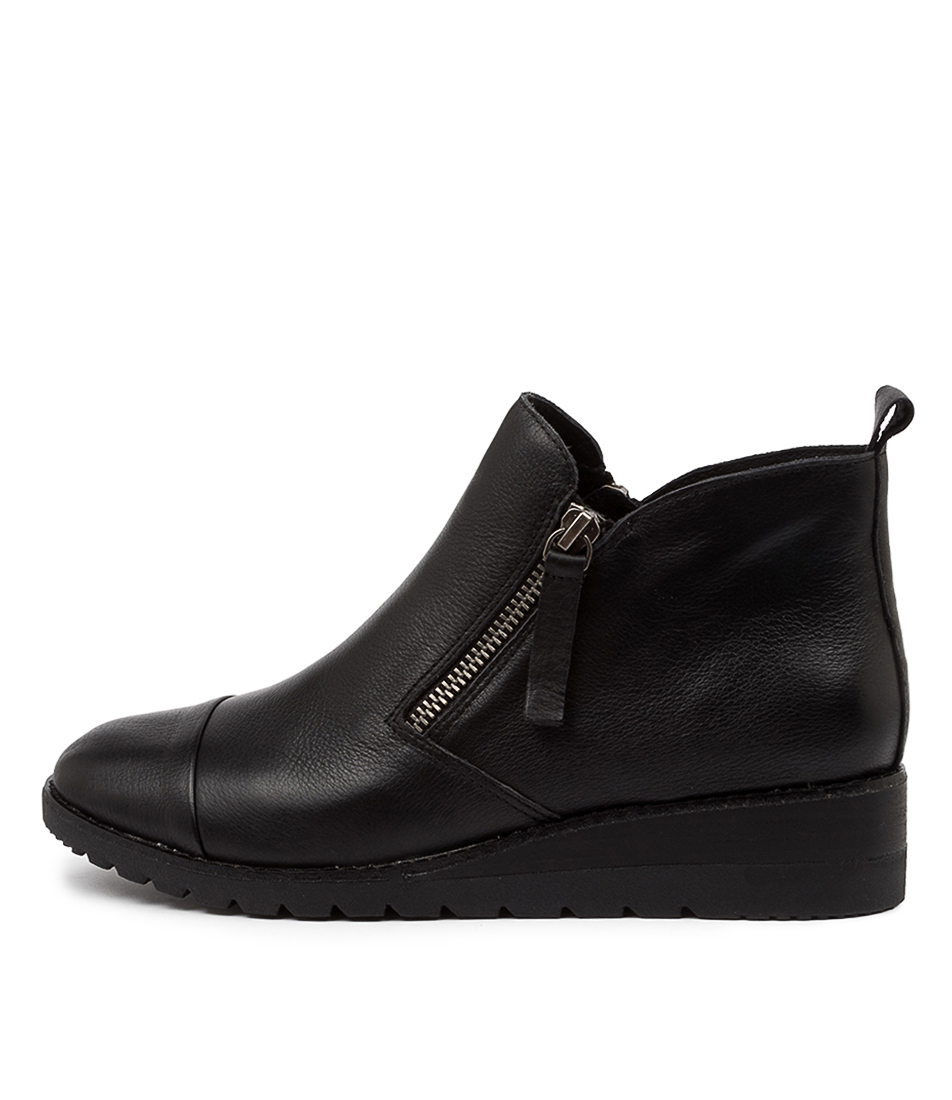 Buy Diana Ferrari Bycra Df Black Black Sole Ankle Boots online with free shipping