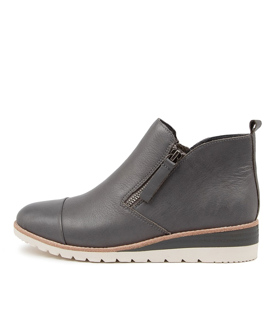 Buy Diana Ferrari Bycra Df Charcoal Ankle Boots online with free shipping