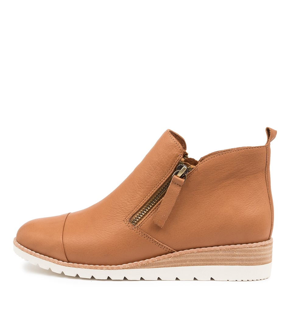 Buy Diana Ferrari Bycra Df Dk Tan Ankle Boots online with free shipping