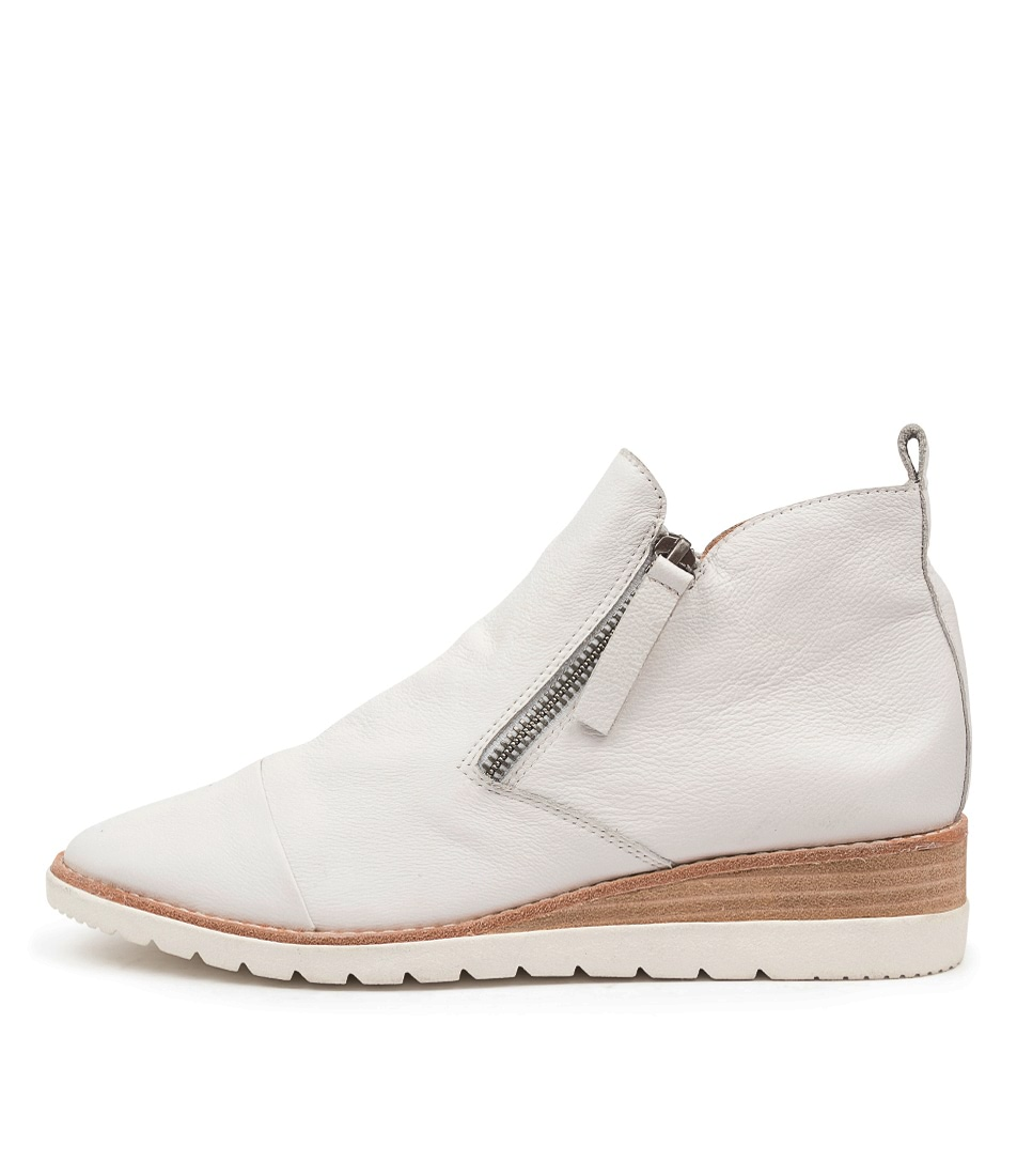 Buy Diana Ferrari Bycra Df White Ankle Boots online with free shipping