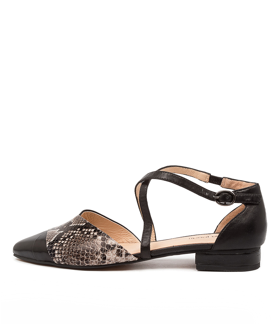 Buy Diana Ferrari Dalba Df Black Flats online with free shipping