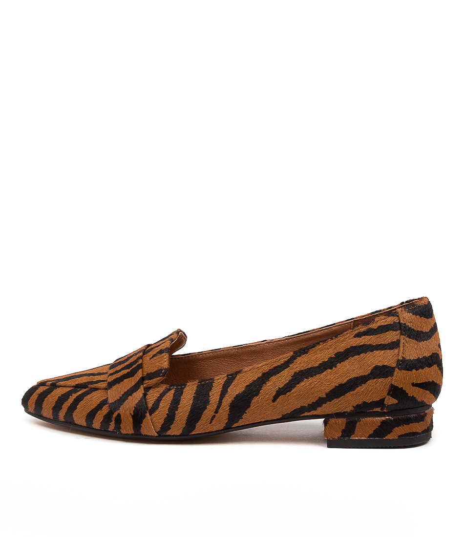 Buy Diana Ferrari Disolo Df Tan Zebra Flats online with free shipping