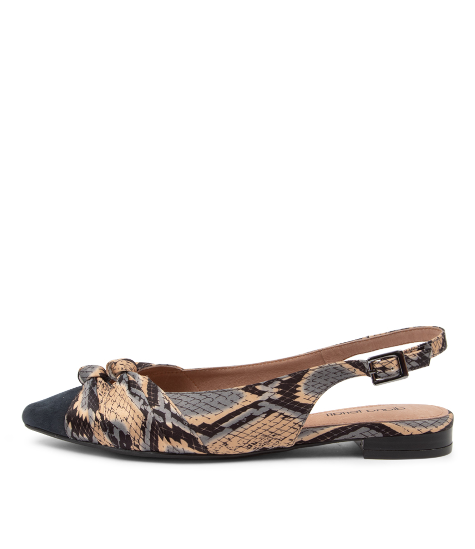 Buy Diana Ferrari Dompose2 Df Navy Snake Flats online with free shipping