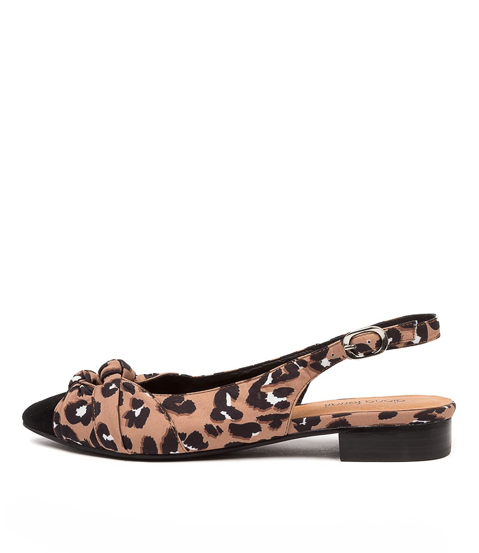 Buy Diana Ferrari Dompose2 Df Black Leopard Flats online with free shipping