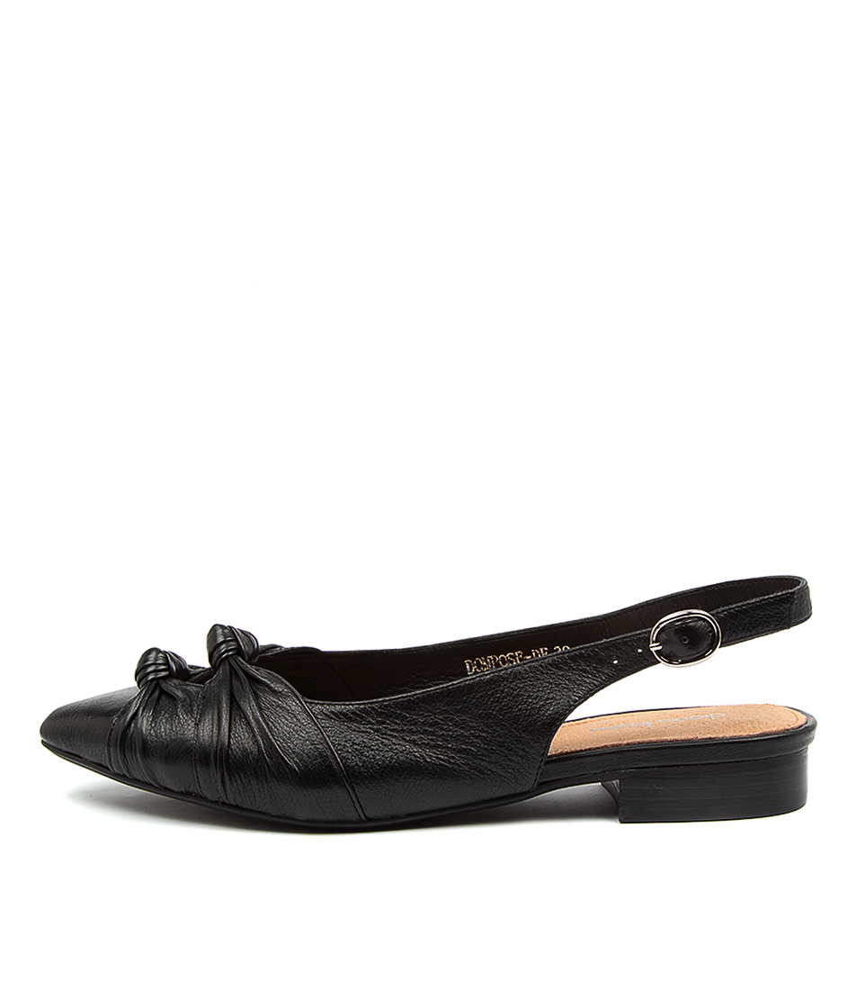 Buy Diana Ferrari Dompose Df Black Flats online with free shipping