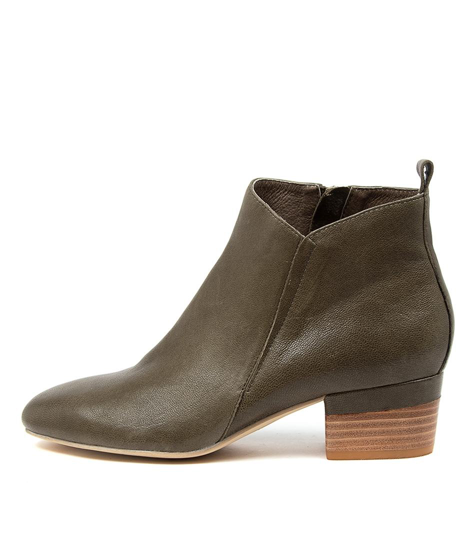 Buy Diana Ferrari Gippa Df Olive Ankle Boots online with free shipping
