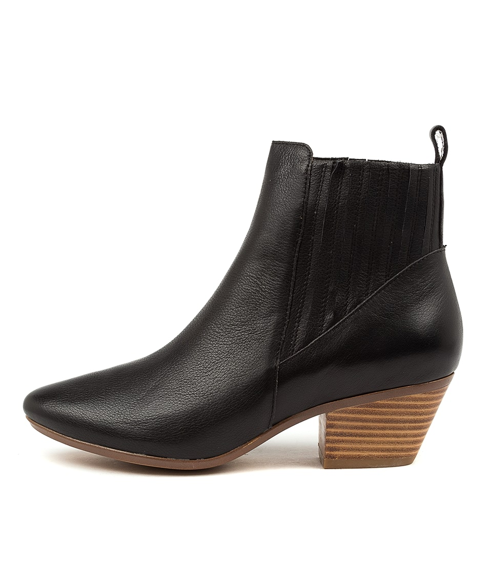 Buy Diana Ferrari Imbers Df Black Natural Heel Ankle Boots online with free shipping