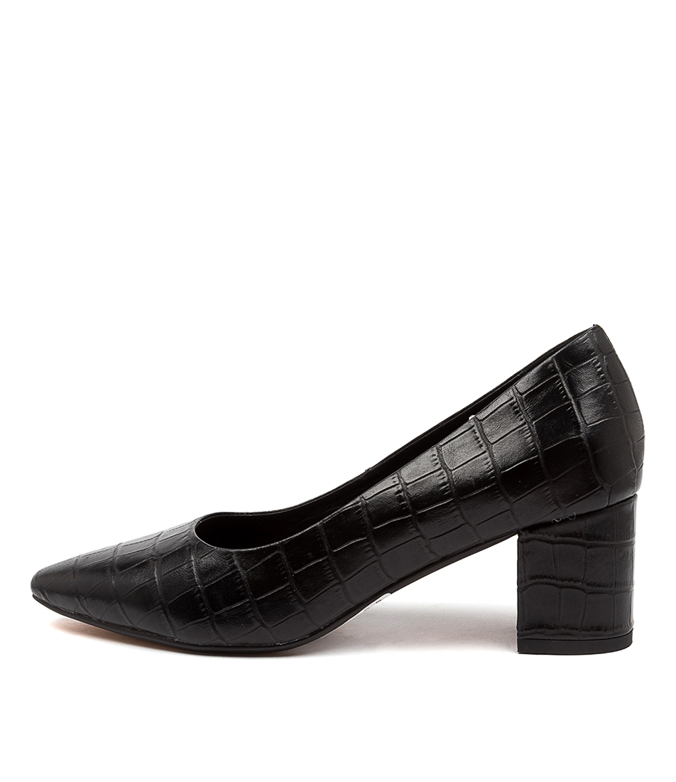 Buy Diana Ferrari Langer Df Black High Heels online with free shipping