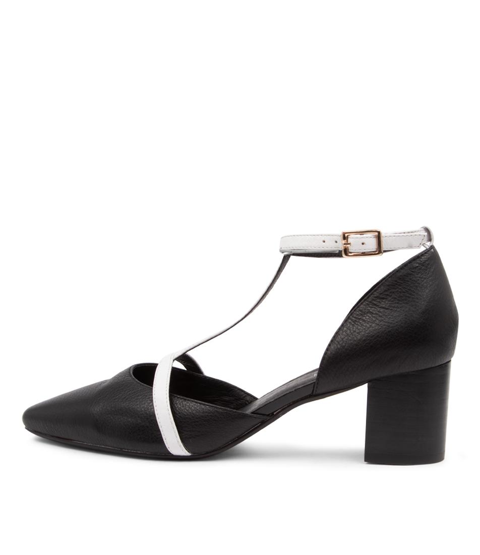 Buy Diana Ferrari Loween Df Black White High Heels online with free shipping