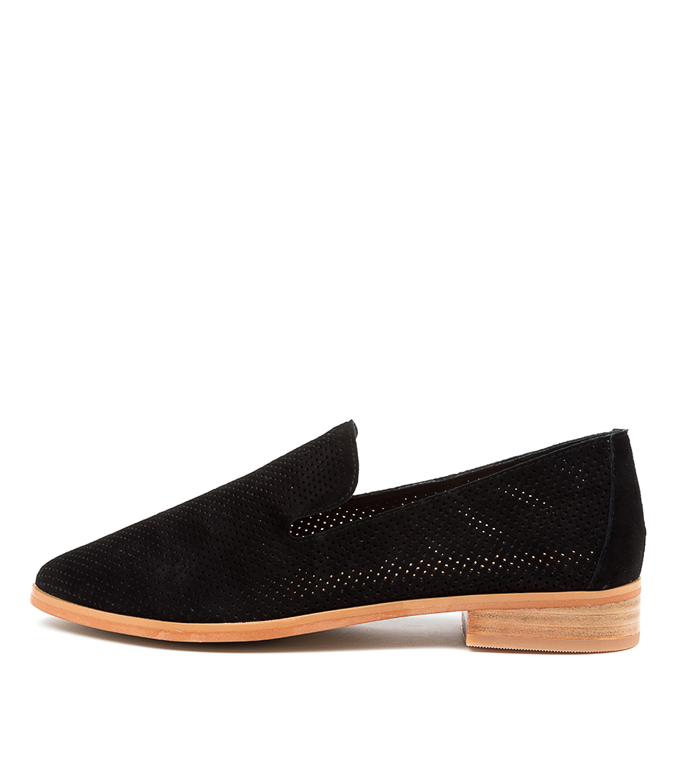 Buy Diana Ferrari Nansie Df Black Natural Heel Flats online with free shipping