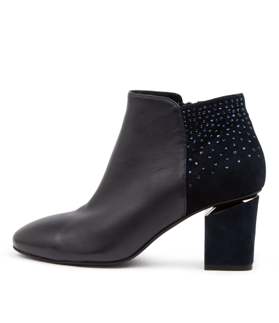 Buy Diana Ferrari Preya Df Navy Dress Ankle Boots online with free shipping