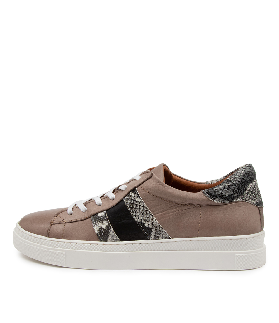 Buy Diana Ferrari Aoppy Df Taupe Multi Sneakers online with free shipping