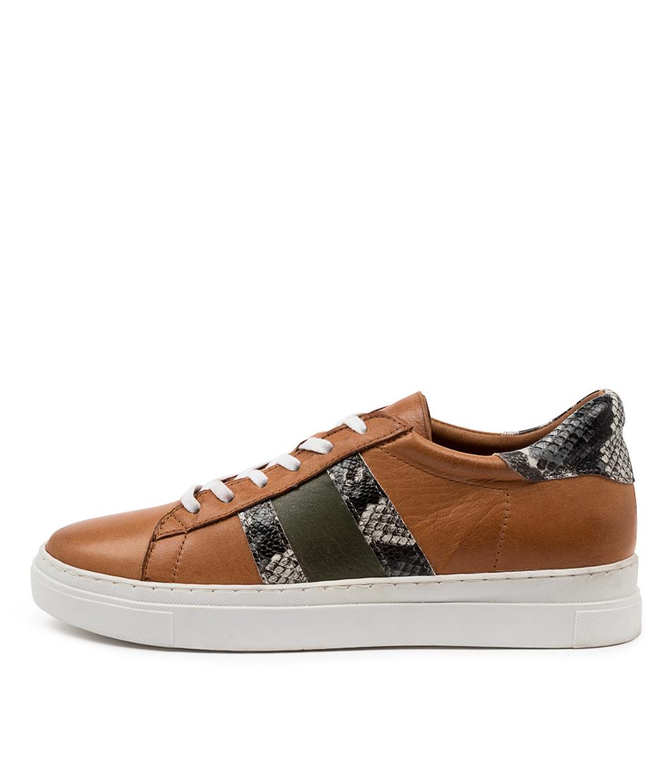 Buy Diana Ferrari Aoppy Df Tan Multi Sneakers online with free shipping