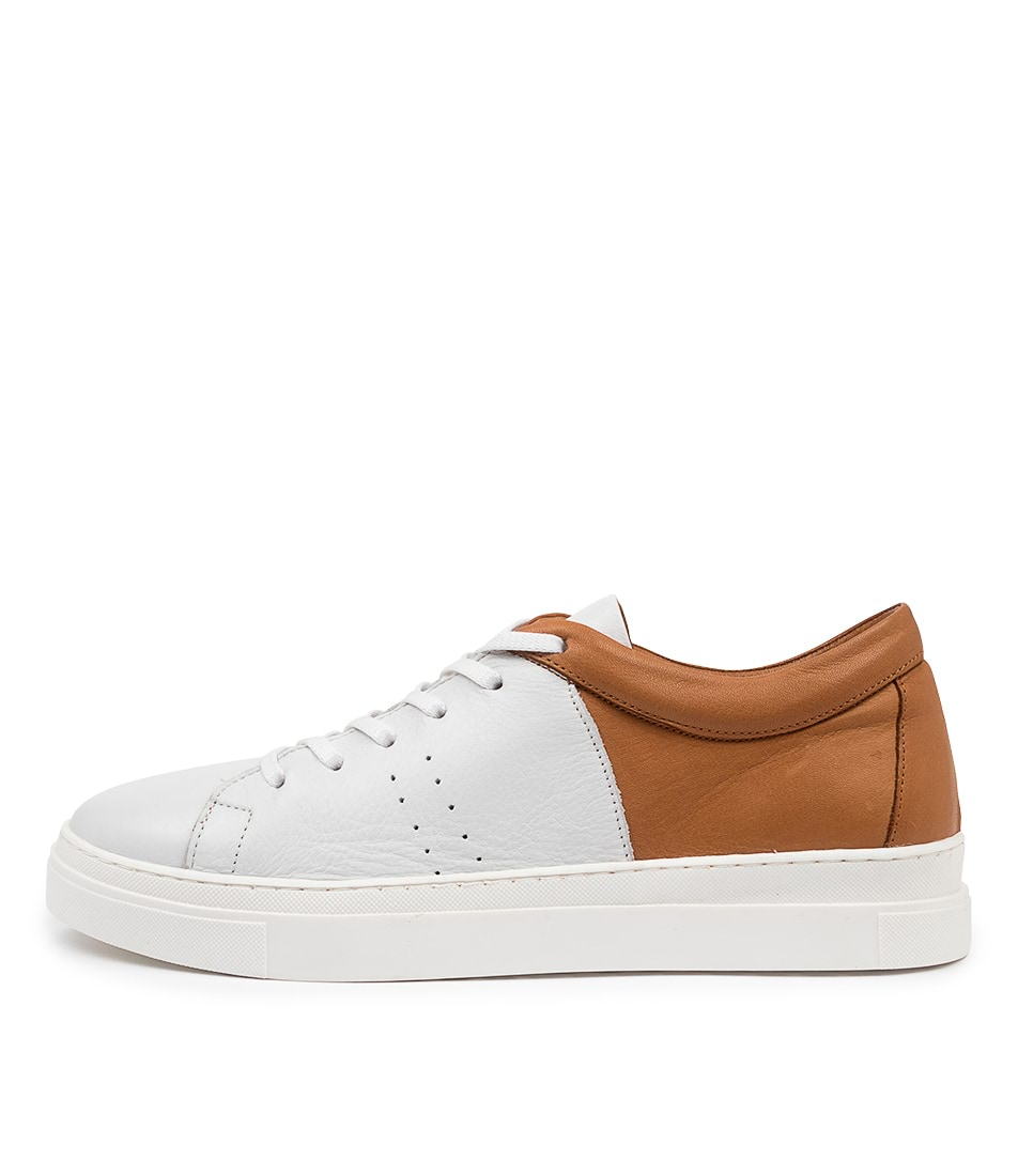 Buy Diana Ferrari Azela Df White Tan Sneakers online with free shipping