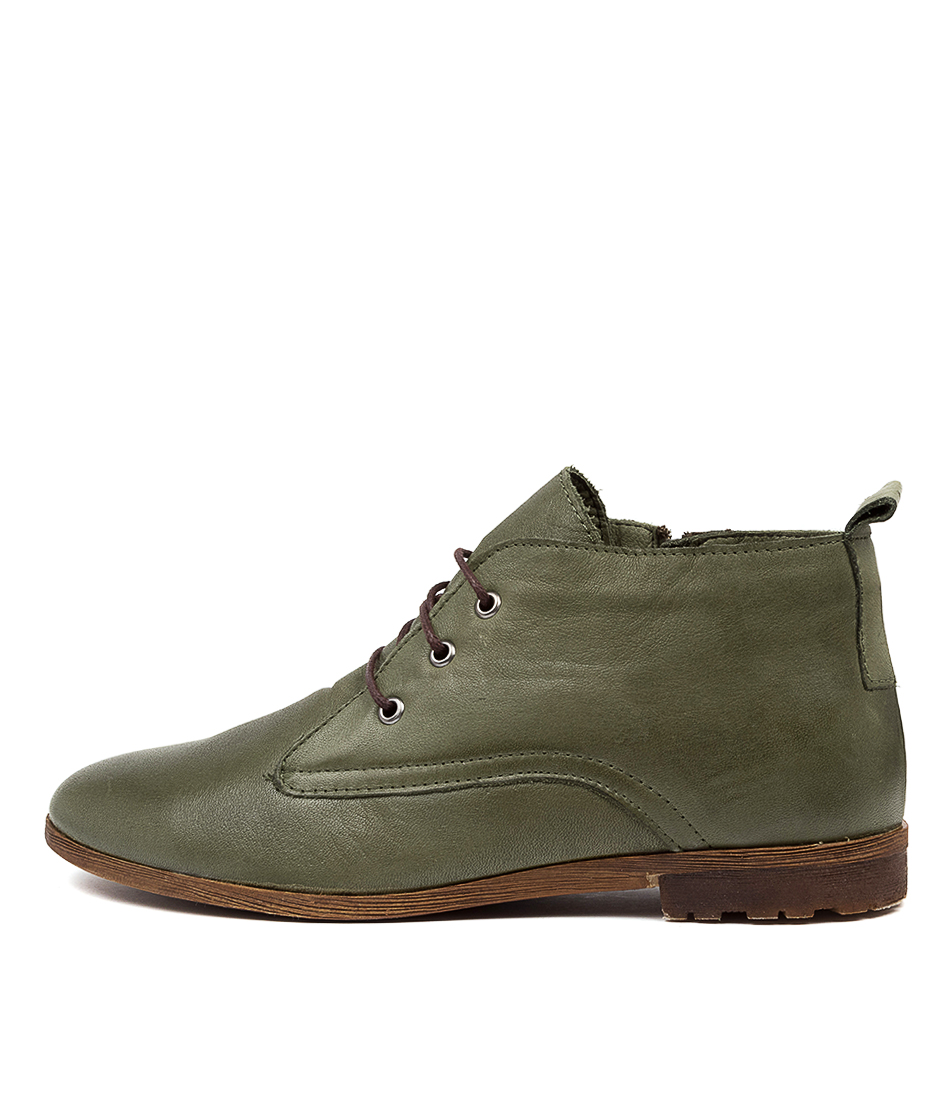 Buy Diana Ferrari Bemsley Df Dk Olive Ankle Boots online with free shipping