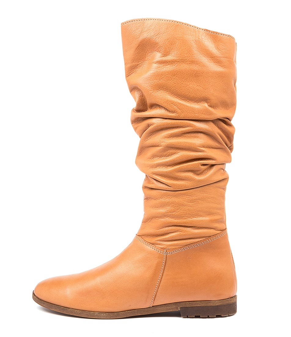 Buy Diana Ferrari Bowlie Df Tan Calf Boots online with free shipping