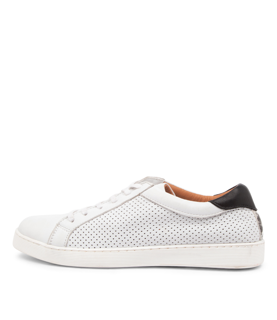Buy Diana Ferrari Mollzie Df White Black Sneakers online with free shipping