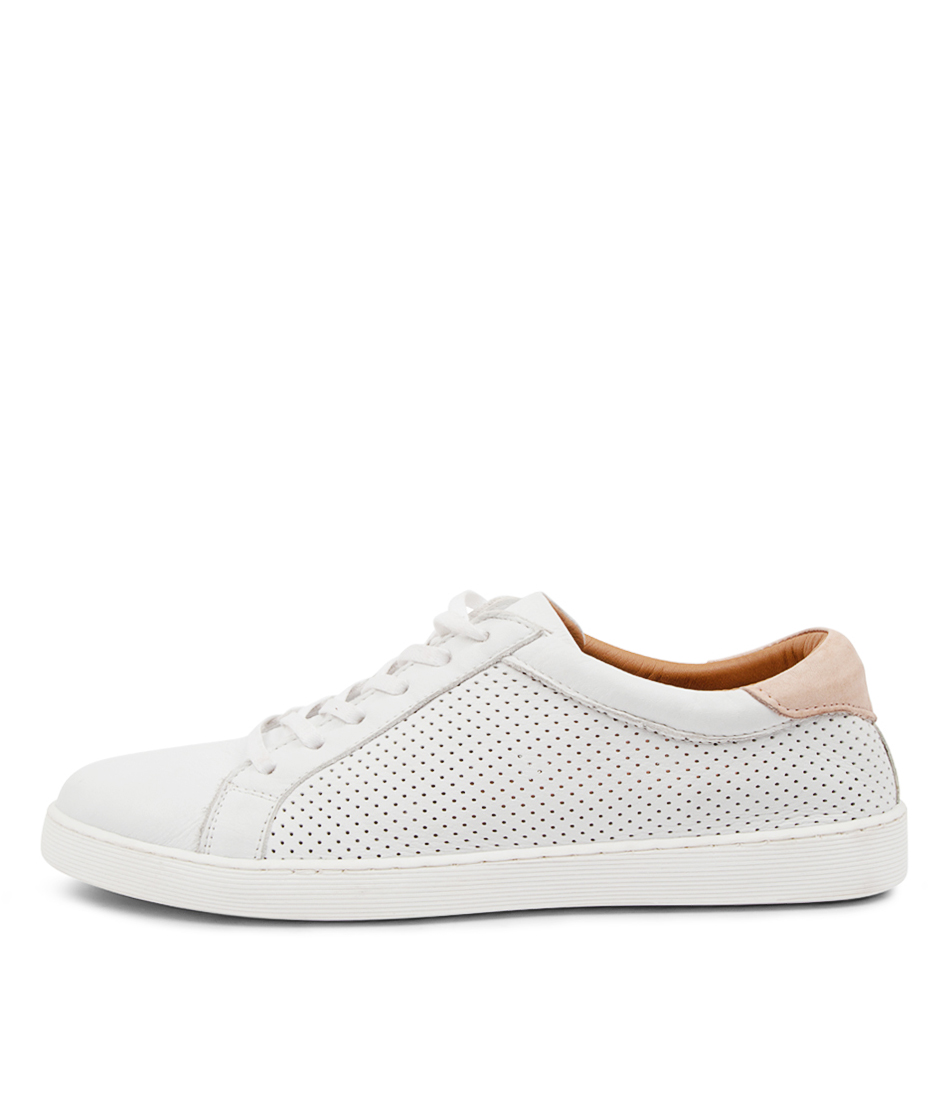 Buy Diana Ferrari Mollzie Df White Nude Sneakers online with free shipping