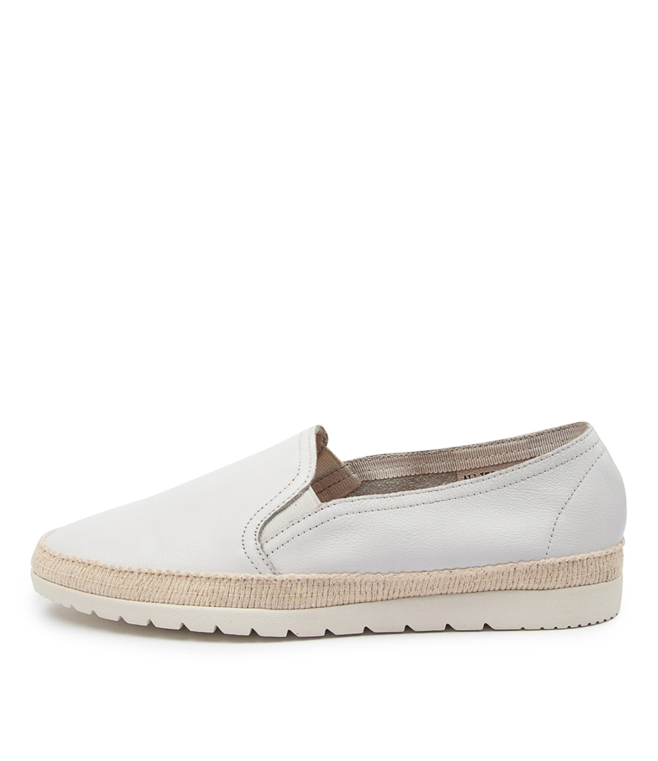 Buy Diana Ferrari Alliet Df White Flats online with free shipping