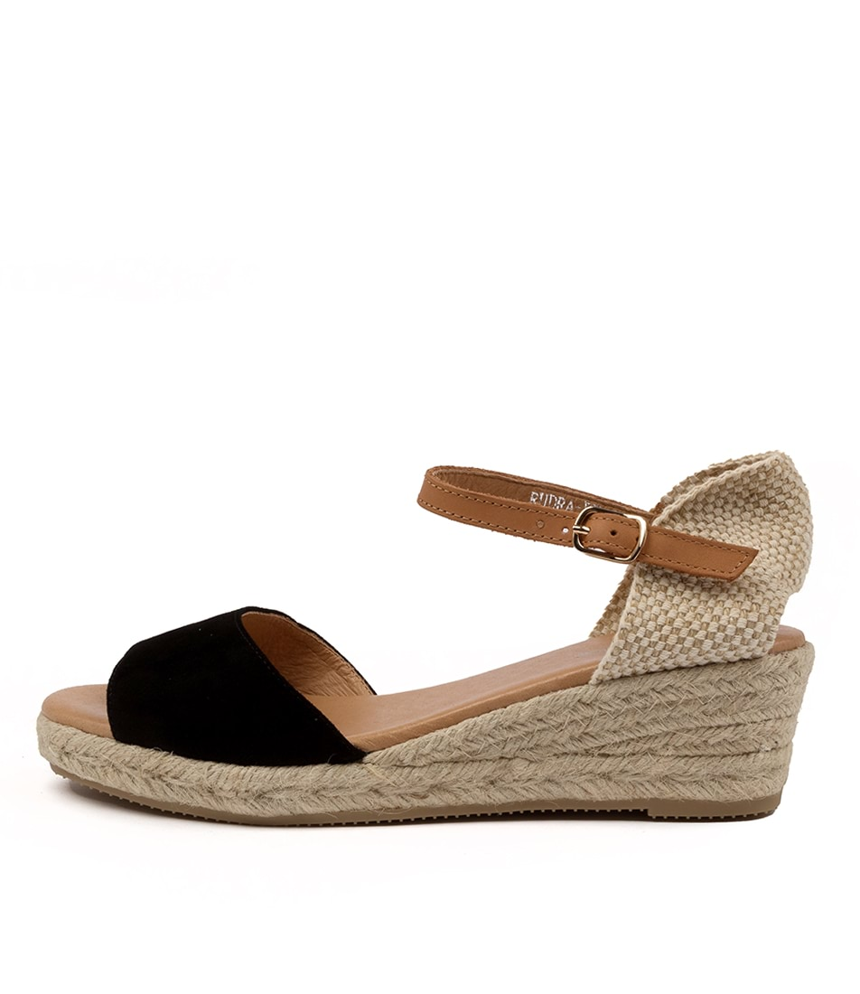 Buy Diana Ferrari Rudra Df Black Tan Heeled Sandals online with free shipping