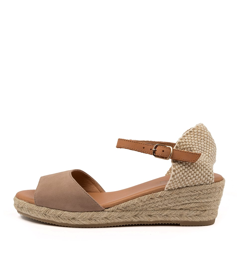 Buy Diana Ferrari Rudra Df Taupe Tan Heeled Sandals online with free shipping