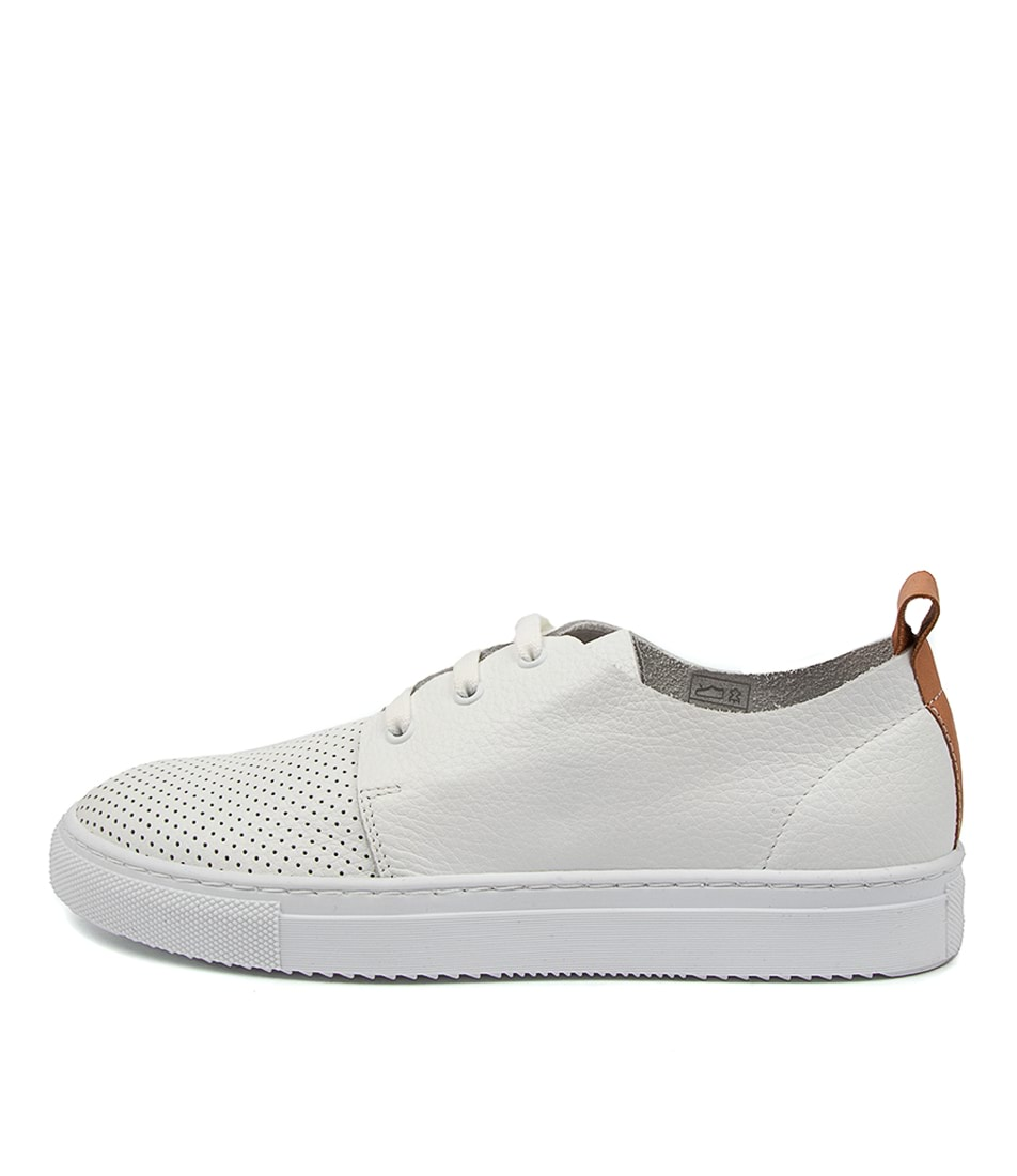 Buy Diana Ferrari Betty Df White Tan Sneakers online with free shipping