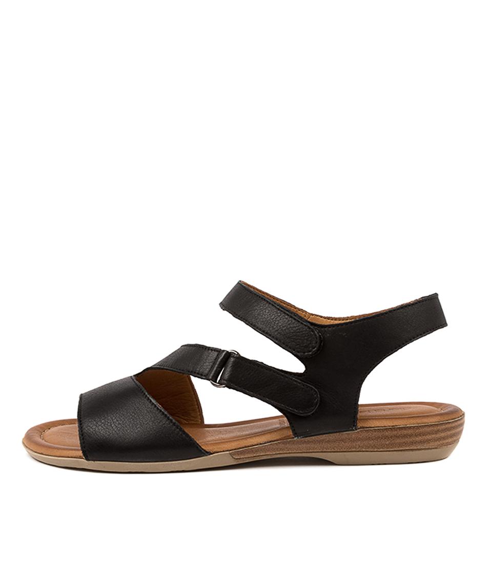 Buy Diana Ferrari Alonza Df Black Flat Sandals online with free shipping