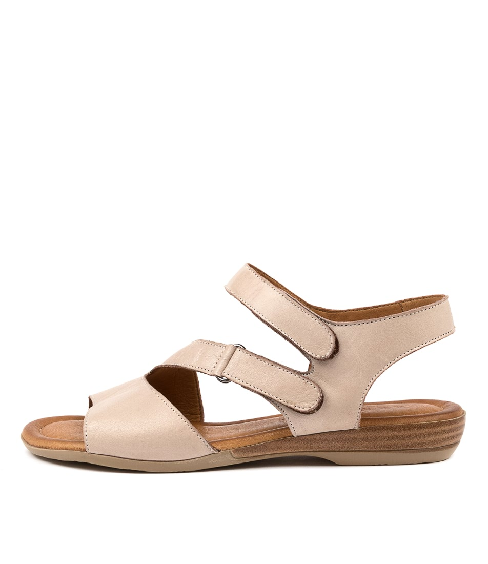 Buy Diana Ferrari Alonza Df Light Stone Flat Sandals online with free shipping