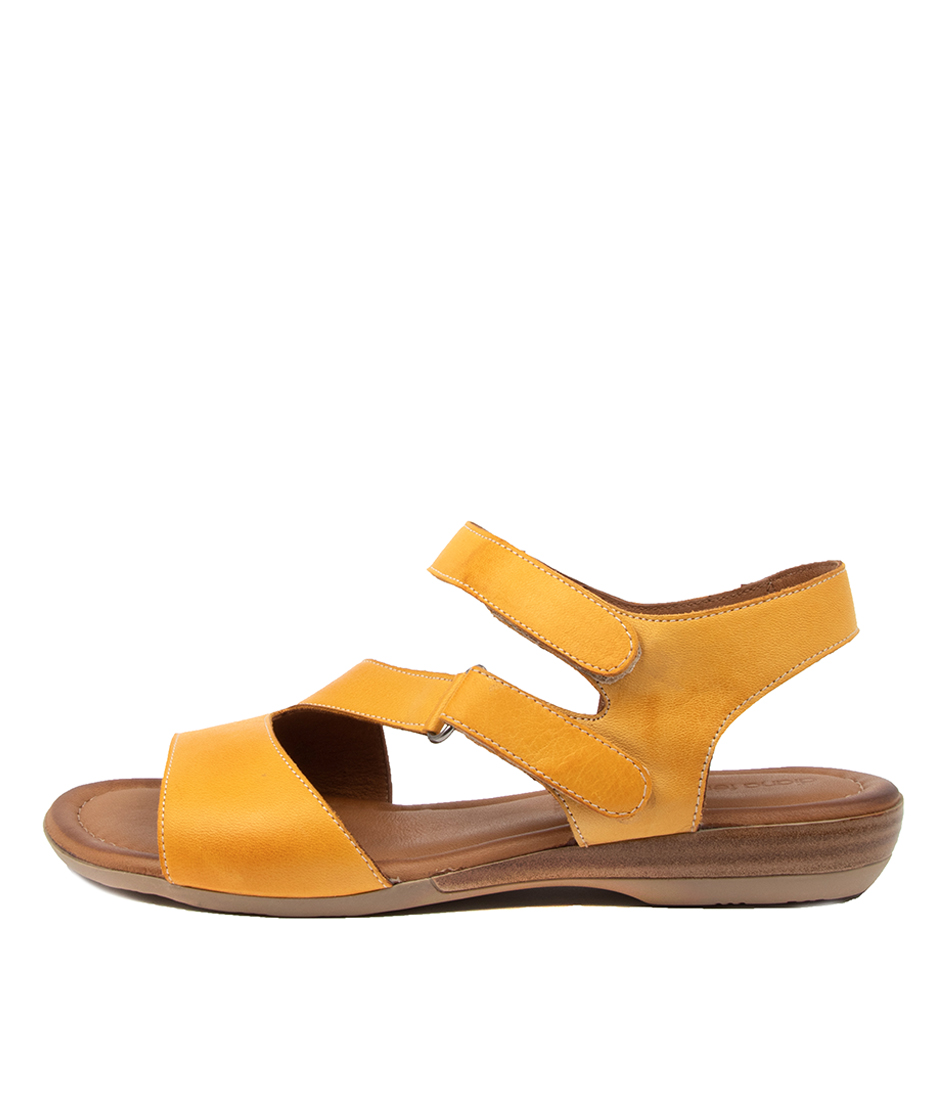 Buy Diana Ferrari Alonza Df Yellow Flat Sandals online with free shipping