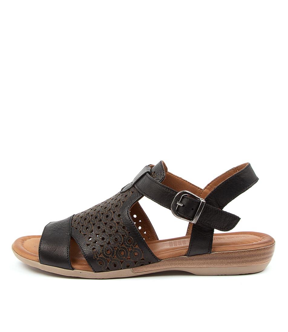 Buy Diana Ferrari Alden Df Black Heeled Sandals online with free shipping