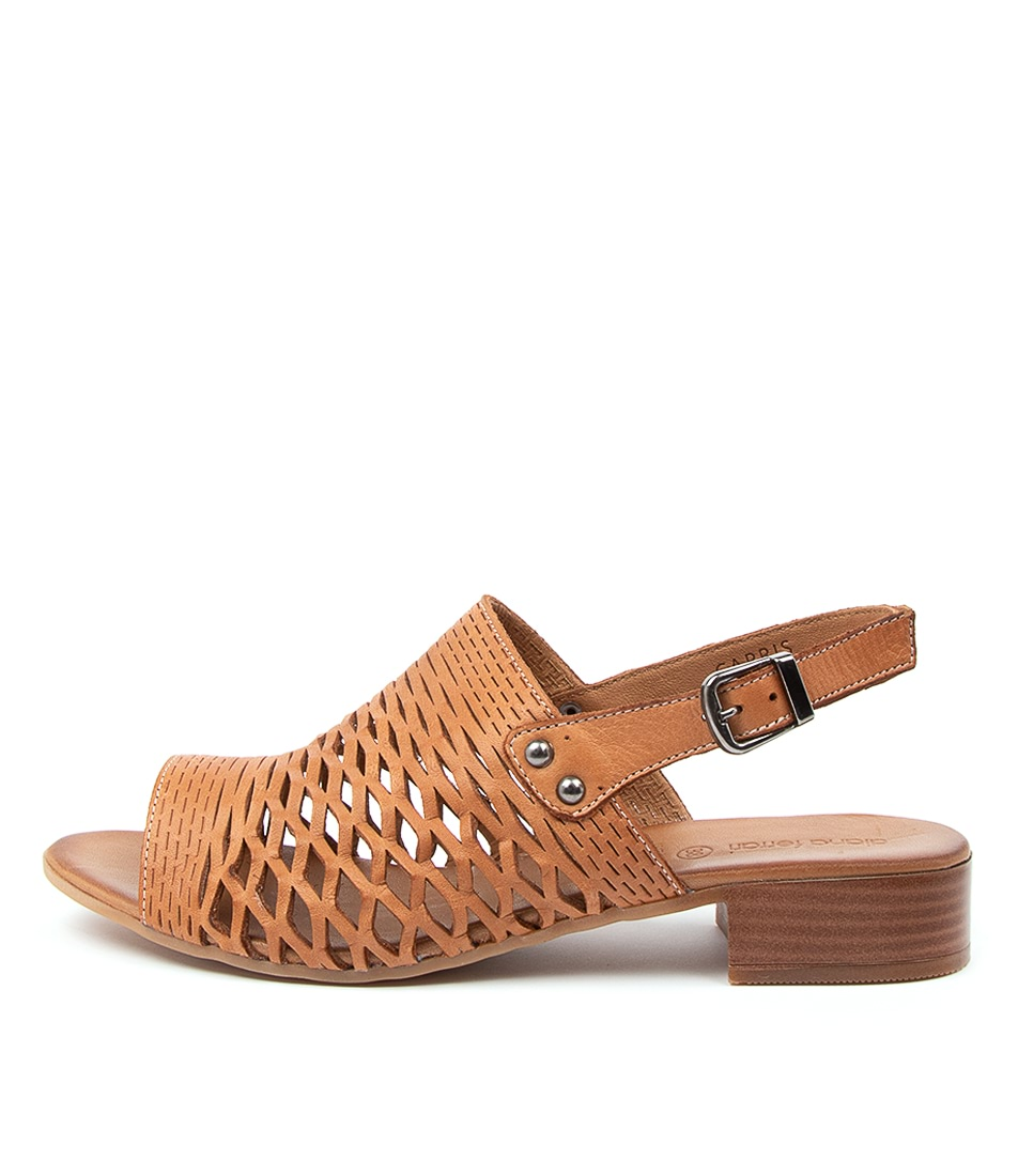 Buy Diana Ferrari Capris Df Tan Heeled Sandals online with free shipping