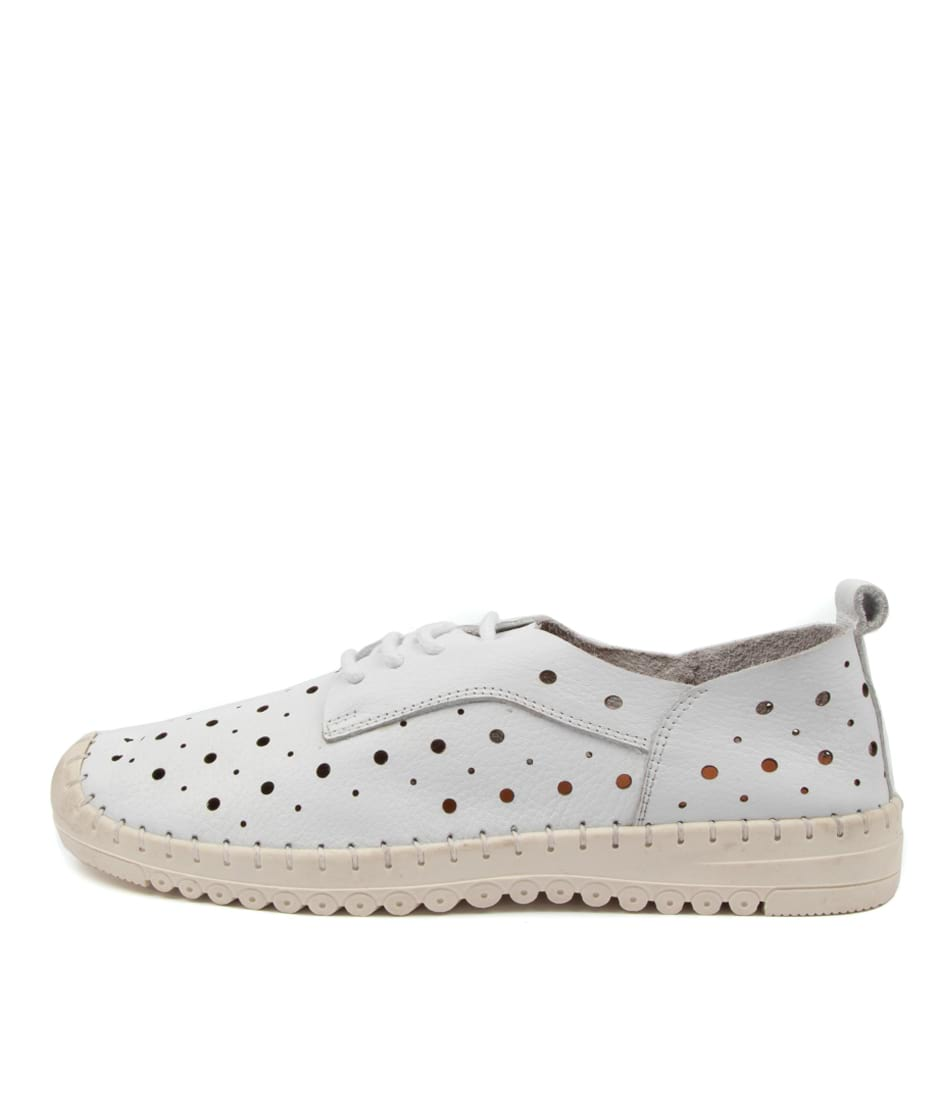 Buy Diana Ferrari Remie Df White Sneakers online with free shipping