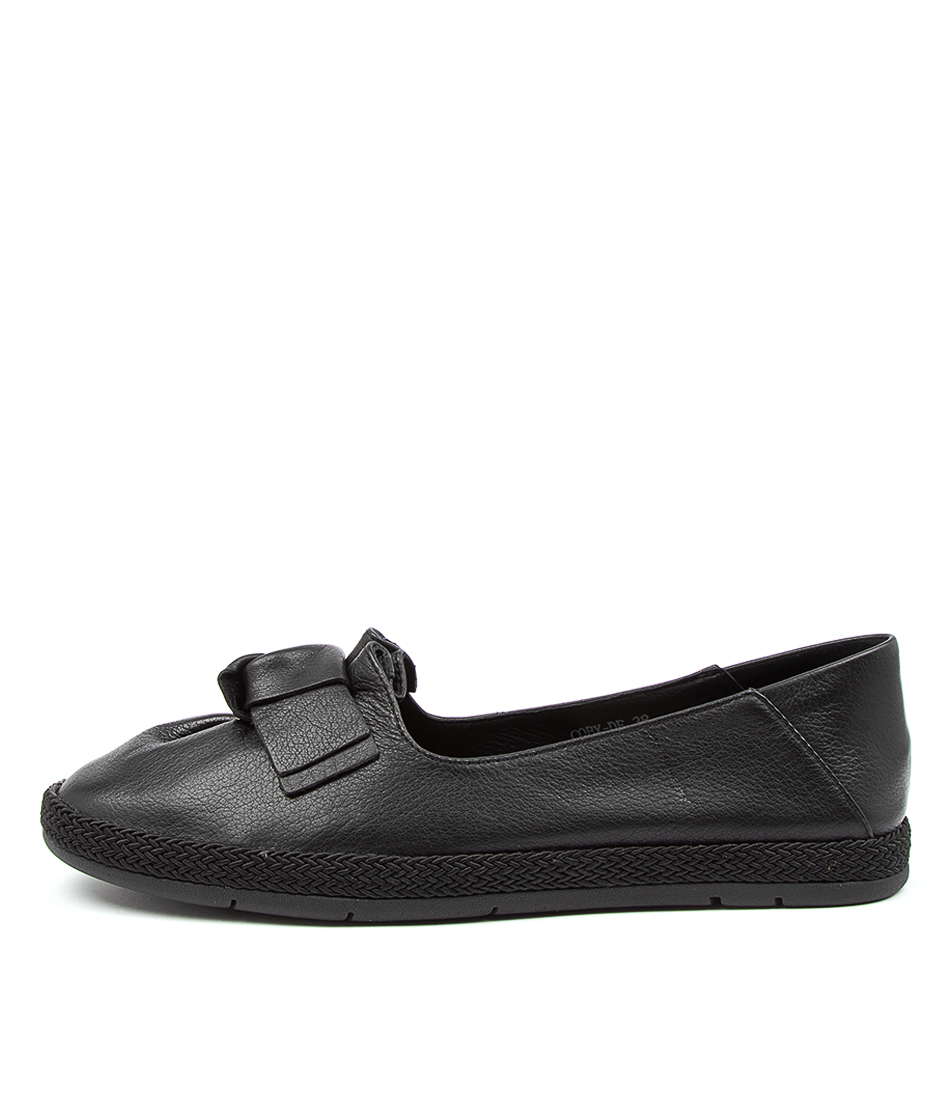 Buy Diana Ferrari Coby Df Black Flats online with free shipping