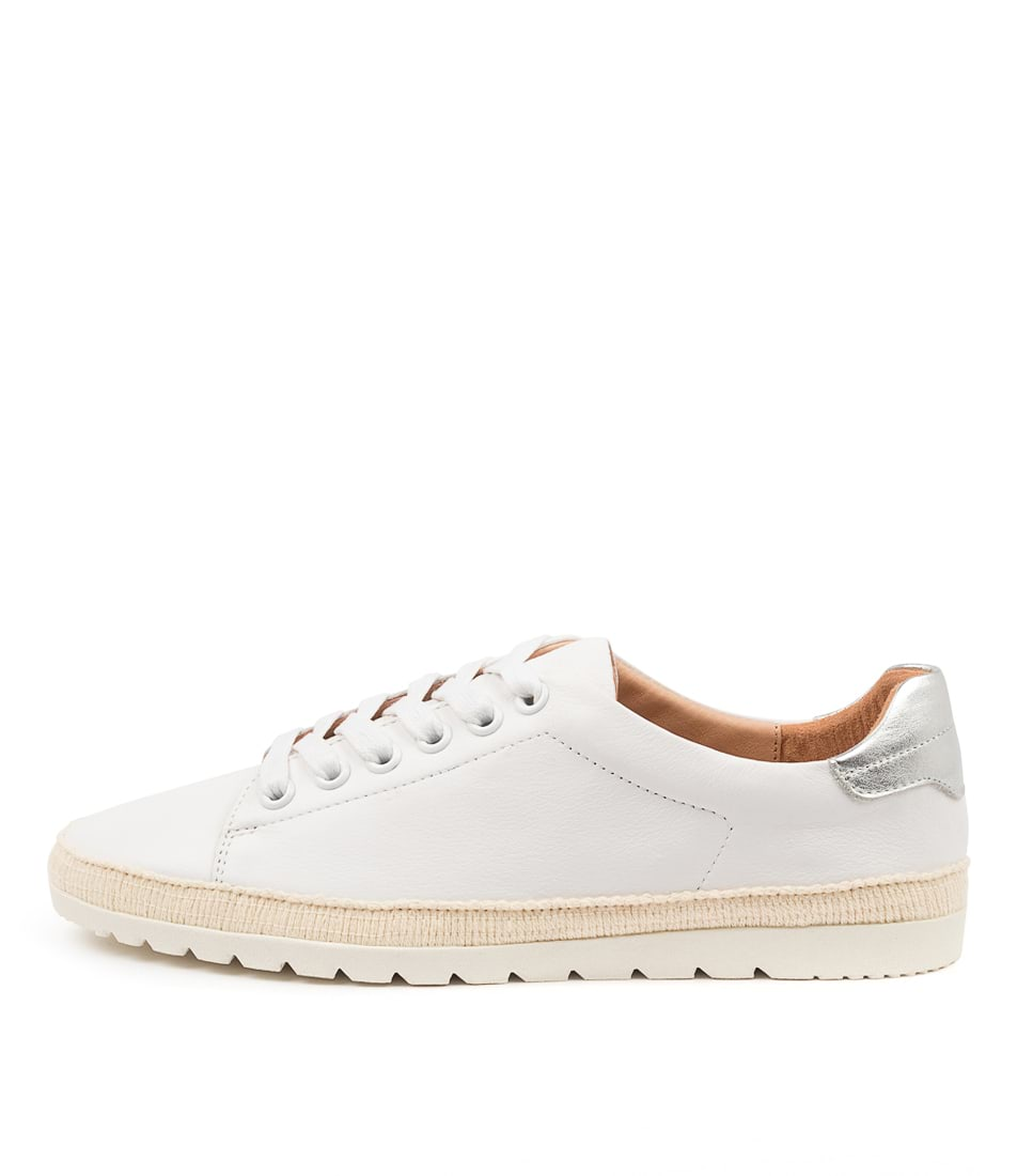 Buy Diana Ferrari Aquine Df White Silver Flats online with free shipping