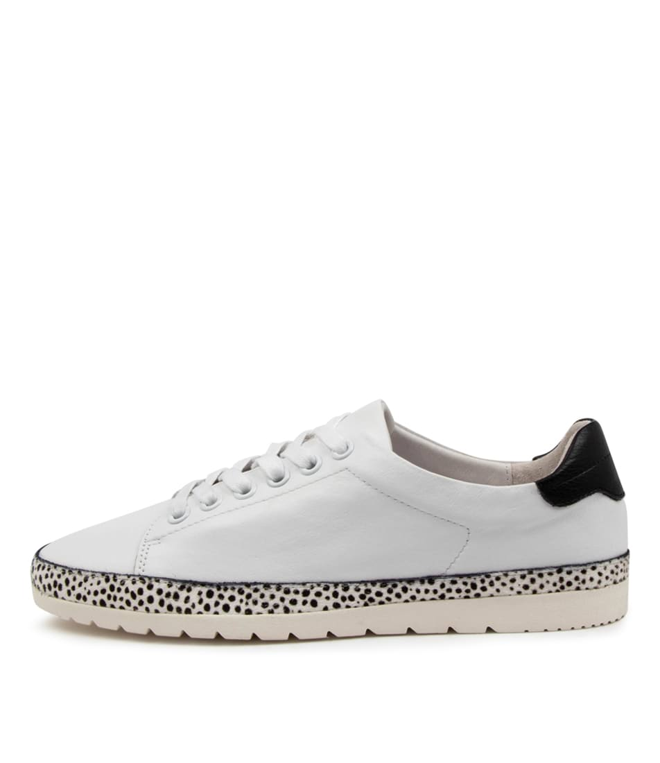 Buy Diana Ferrari Aquine Df White White Speckle Flats online with free shipping